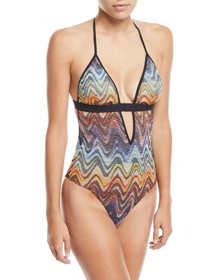 Multicolor Wave One-Piece Swimsuit