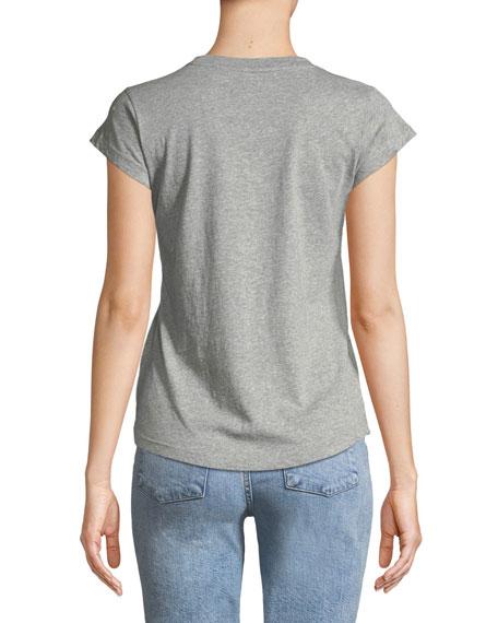 Skinny Strass Graphic-Print Crewneck Cotton T-Shirt