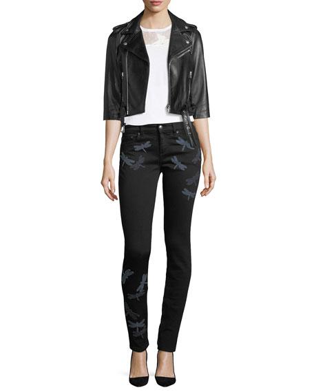 Dragonfly Patch Skinny Jeans