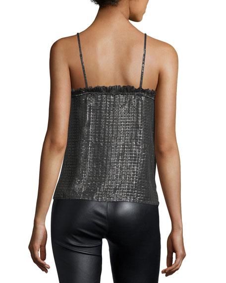 V-Neck Metallic Camisole Top