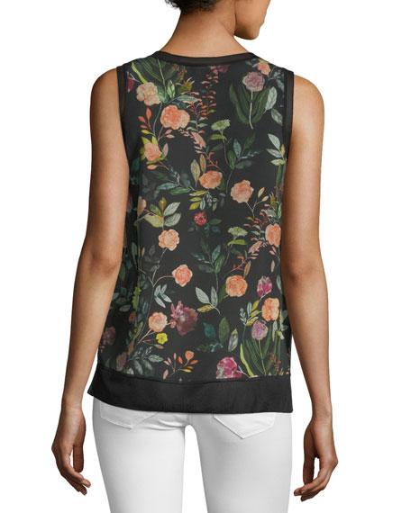 Lewie Floral-Print Silk Tank