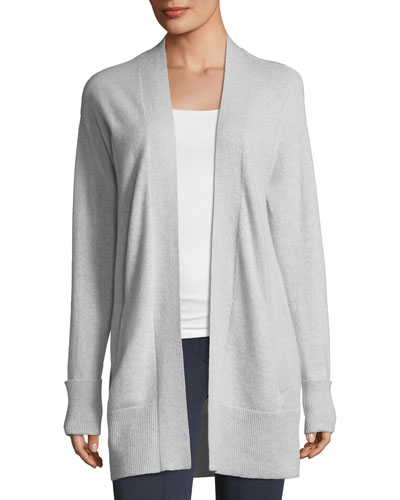 Open-Front Relaxed Cashmere Cardigan Sweater