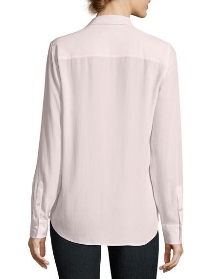 Adalyn Silk Long-Sleeve Blouse