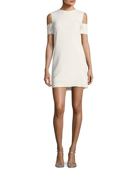 Viscose-Stretch Arm-Cuff Dress