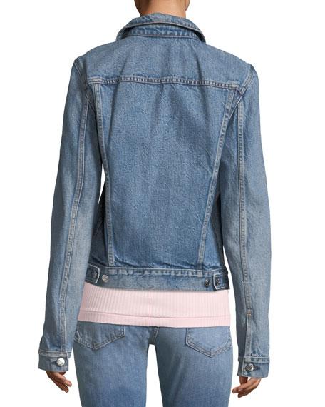 Light-Vintage Button-Front Jacket