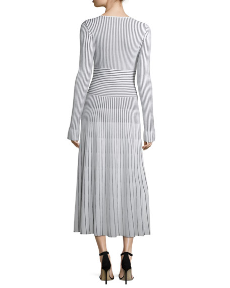 Sheridan Striped Sweaterdress