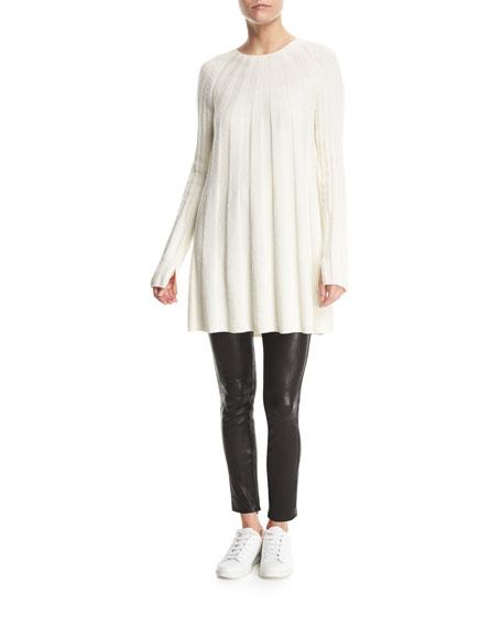Gerri Crewneck Ribbed Swing Sweater Dress