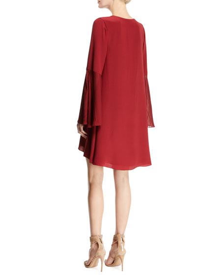 Manhattan V-Neck Bell-Sleeve A-Line Dress