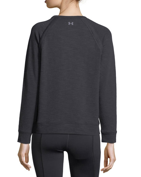 Crewneck Plush Terry Sweatshirt