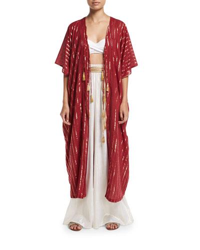 Adria Tasseled Kimono Coverup