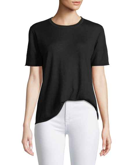 Cashair Cashmere Short-Sleeve Tee