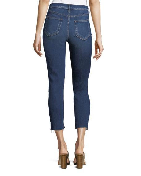Nicoline Slim Skinny Cropped Jeans w/ Slit