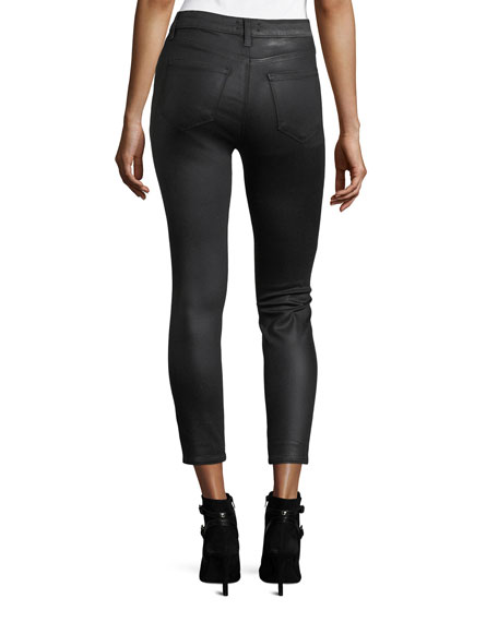 Margot Coated High-Rise Skinny-Leg Ankle Jeans