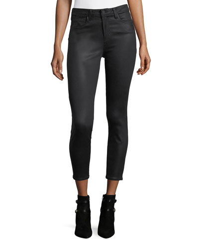 Margot Coated High-Rise Skinny-Leg Ankle Jeans