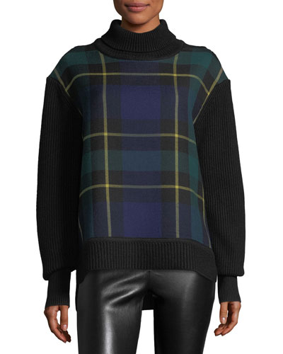 Tartan Plaid Turtleneck Sweater