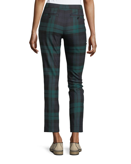 Cropped Plaid Trousers