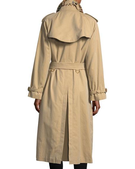 Gabardine Trenchcoat w/Oversized Buttons