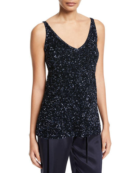 Tracy Sleeveless Embellished Blouse