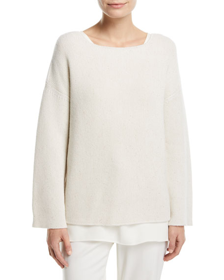 Cashmere Textured Stitch Sweater