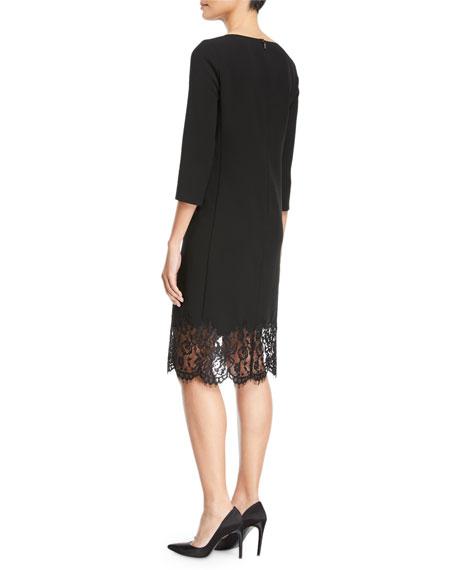 Mya Lace-Hem Dress