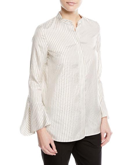 Graydon Striped Silk-Blend Blouse