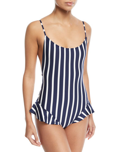 Bondi Vertical-Stripe One-Piece Swimsuit