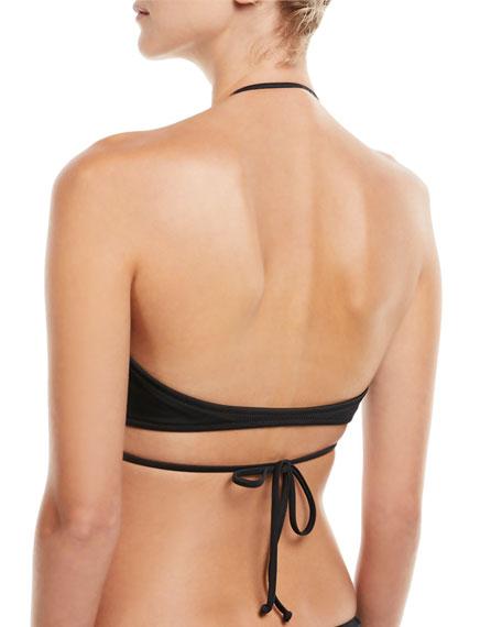 Ruffle Wrap Bikini Swim Top