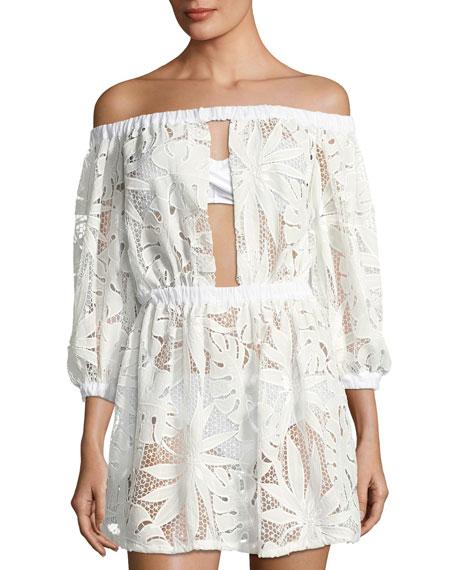 Jenny Crochet-Lace Coverup Dress