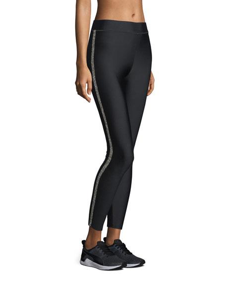 Ultra-Fit Full-Length Leggings with Crystalline Trim
