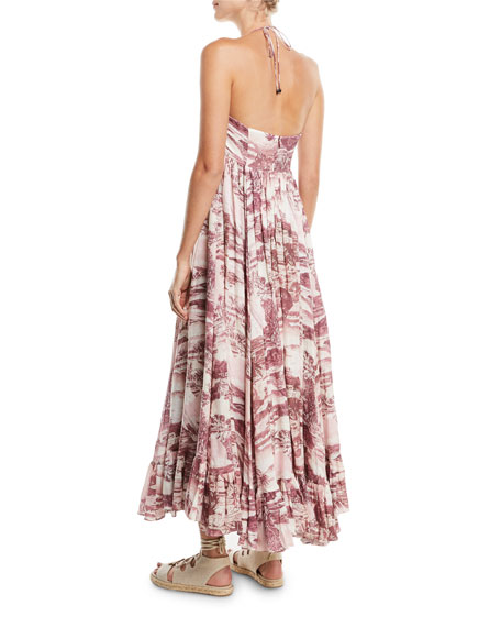 ed4628b052 Zimmermann Kali Hawaiian Long Linen Coverup Dress