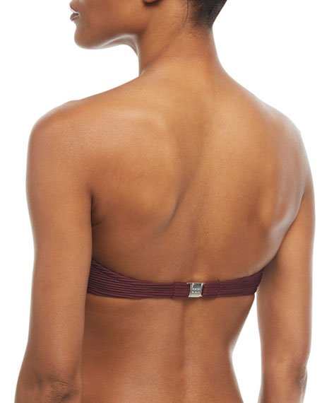 Monaco V-Bar Padded Bandeau Swim Top
