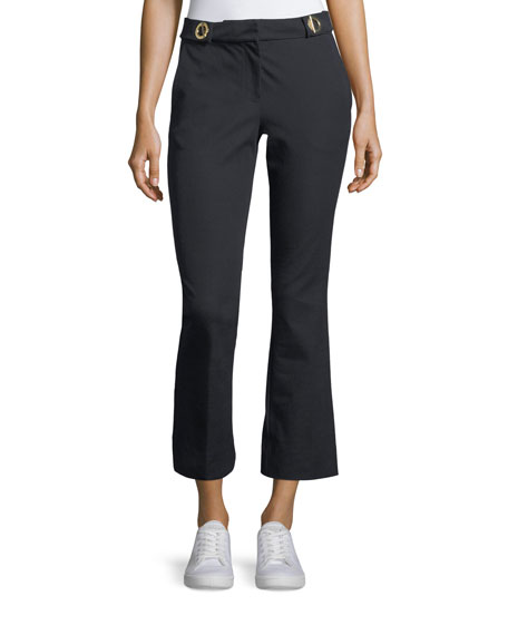 Derek Lam 10 Crosby Cropped Flared-Leg Trousers with