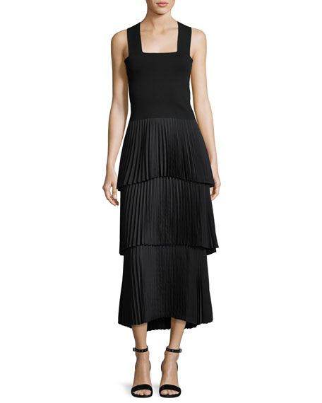 Harley Tiered Pleated Long Skirt