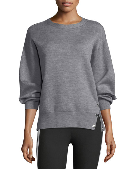 Saralyn Crewneck Wool-Cotton Sweatshirt