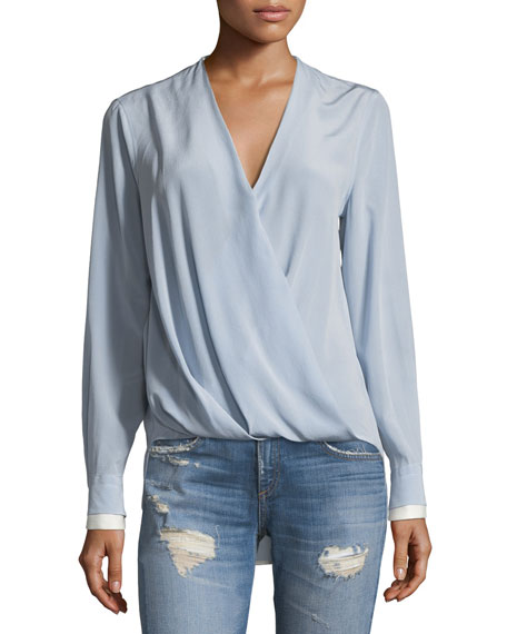 Victor Surplice Silk Blouse