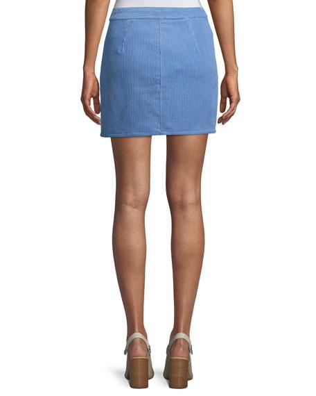 Racer Corduroy Short A-Line Skirt