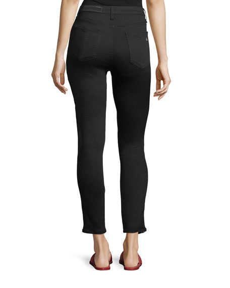 Mito High-Rise Skinny-Leg Jeans with Tux Stripes