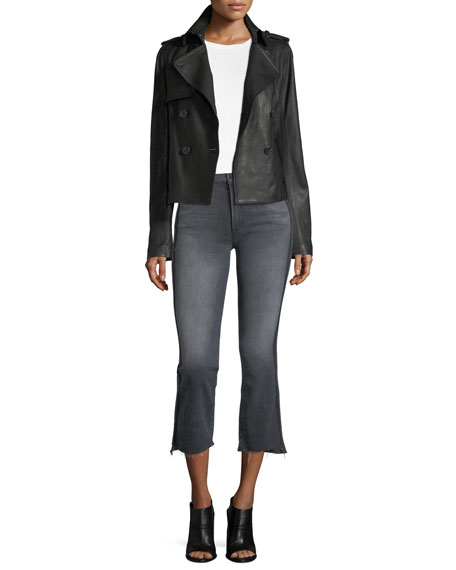 Insider Crop Step Fray Jeans with Side Stripes