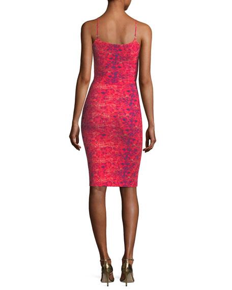 Meghana Spaghetti-Strap V-Neck Cocktail Dress
