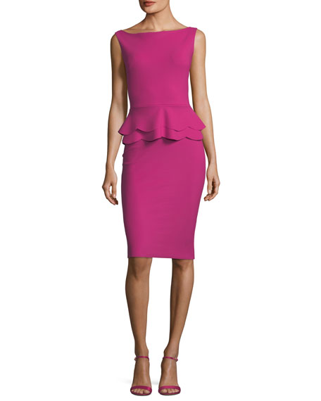 Sebla Sleeveless Peplum Cocktail Dress