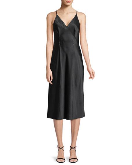 alexanderwang.t Sleeveless Silk Charmeuse Camisole Midi Dress