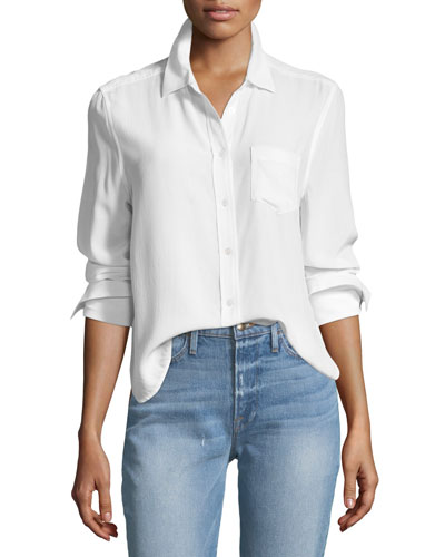 Huntley One-Pocket Short Silk Shirt