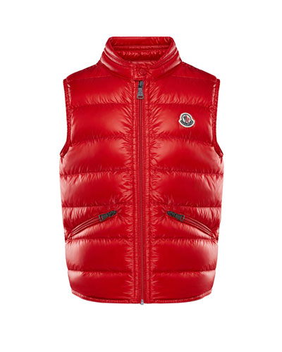 Gui Down Puffer Vest, Red, Size 8-14