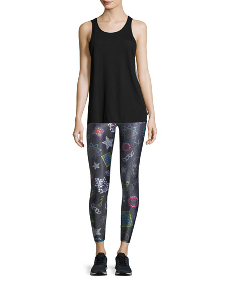 Neon Crystals Leggings