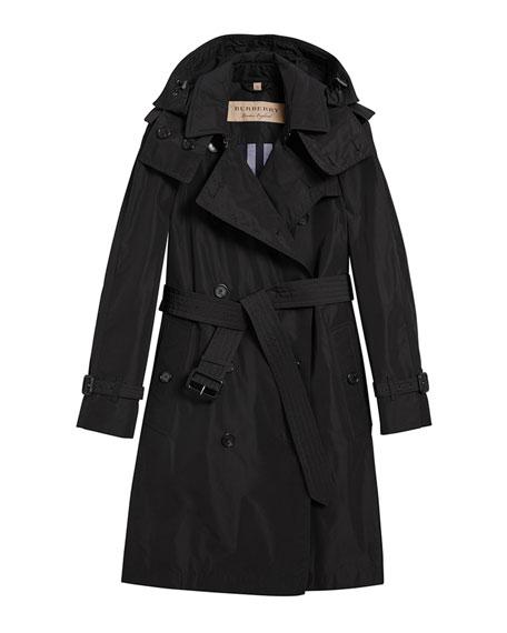 Amberford Packaway Rain Trench Coat, Black