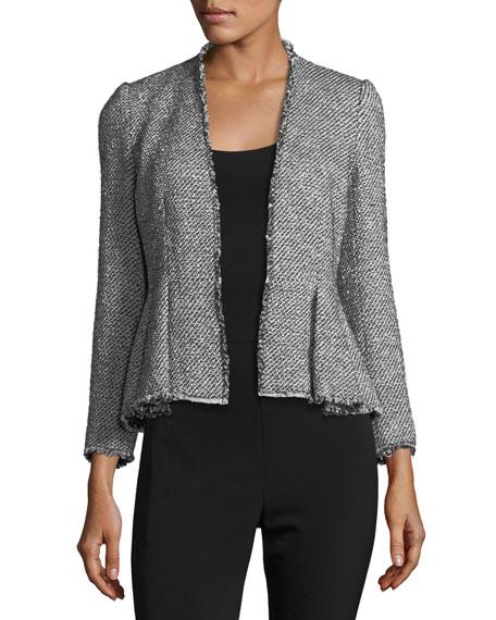 Metallic Tweed Peplum Jacket