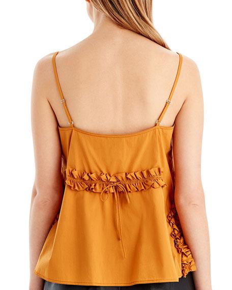 Ruffle-Detail Cotton-Blend Camisole
