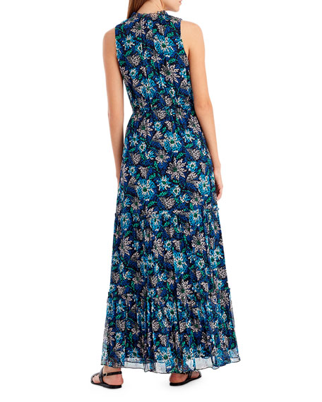 Floral-Print Sleeveless Maxi Dress