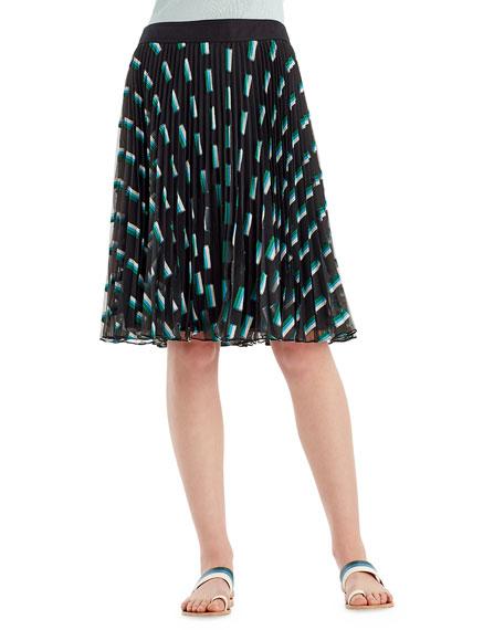 GREY JASON WU Fil Coupe A-Line Skirt in Emerald Multi