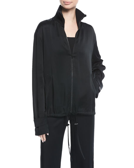 Monica Zip-Front Jacket with Sequined Palm Trees